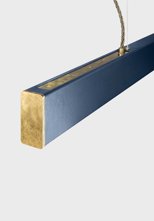 Alexallen studio cobalt leather and mottled brass 2x4 for homepage 600 7x2x1965x2808